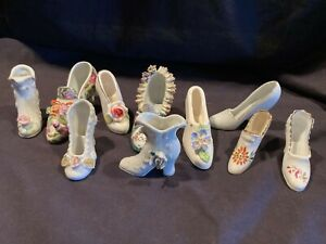 Lot of 10 Vintage Porcelain Shoes Collectible JAPAN