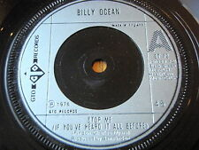 "BILLY OCEAN - STOP ME (IF YOU'VE HEARD IT ALL BEFORE)  7"" VINYL"