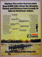 1977 Mariner Outboard Motors south america rivers journey story vintage print Ad