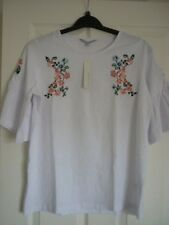 Red Herring White Floral Embroidered Boho Top. UK 14 EUR 40-42 US 10