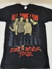 All Time Low Concert T-Shirt Dirty Work Tour 2011 Sz S Soft Cotton Black Concert