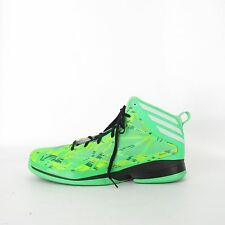 Adidas Crazy Fast Green Zest White Vivid Green ART G59734 Basketball Shoes SZ 17