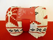 Ralph Lauren Christmas Throw Blanket 60 x 70 Polyester NEW With Package