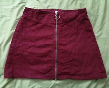 ASOS Women's Red Zip Up Front Skirt Size 6 Good Used Condition