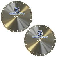 "2Pack 16"" General Purpose 12MM Segment Diamond Saw Blade for Concrete & Masonry"