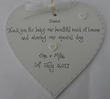 bridesmaid maid of honour personalised wedding thank you gift keepsake present