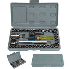 """40 Piece 3/8"""""""" And 1/4"""""""" Drive Socket Set Tool Kit Ratchet Wrench Extension"""