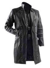 Deus Ex Human Revolution Jacket Adam Jensen Black Trench Coat for mens All Sizes