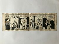 """Signed Alfred Andriola iconic  """"Kerry Drake"""" original daily comic strip art."""