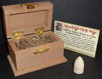Civil War Bullet w/Display Chest! Battle of Sailor's Creek, Virginia April 1865!