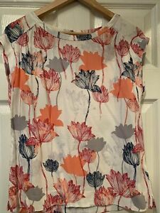 White Stuff Size 8 Blouse Top Floral