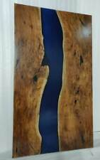 "Epoxy Resin Royal Blue  Dining Table Top 6x3ft Dining Table ""35MM"" width"