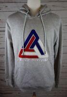 NEW Black Pyramid Men's Embroidered Logo Hoodie Chris Brown Ash Grey MSRP $68.00
