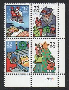 ALLYS US Plate Block Scott #3108-11 32c Christmas Scenes [4] MNH F/VF [STK]