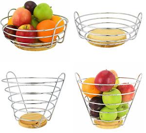 Fruit  Baskets Storage Display Organiser Hanging Bowls Hammocks Kitchen Storage