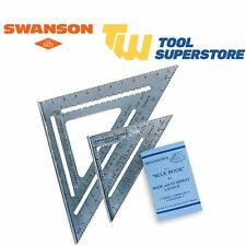 """Swanson SW1201K 7"""" & 12"""" Speed Square Layout Tool Kit with Blue Book Instruction"""