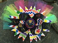 SCHOOL ABCS 123S PERSONALIZED NAME BOUTIQUE BOTTLECAP HAIRBOW