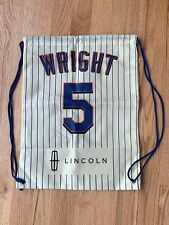 NY New York Mets David Wright 5 Drawstring Gym Bag Backpack Lincoln Sponsor LE