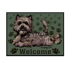 Cairn Terrier Dog Breed Paws Cartoon Artist Welcome Doormat Floor Door Mat Rug