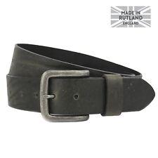 Herren Vintage Leder Jeans Gürtel, Handmade in England, 4cm Gurt