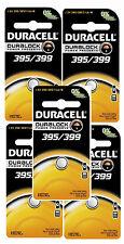 5 Pcs Duracell Silver Oxide 395 399 SR927SW Batteries