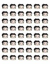 "48 BETTY BOOP FACE SEALS LABELS STICKERS ENVELOPE 1.2"" ROUND"