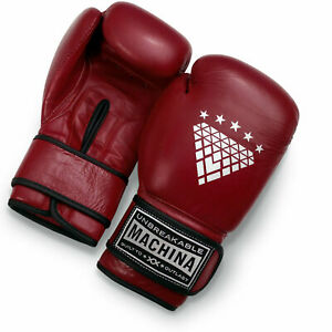 Machina Carbonado 12 Ounce Women's Leather Boxing Gloves - DARK RED