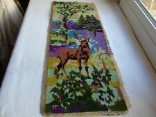"""French vintage cross stitch needlework embroidery """"Deer"""""""