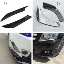 Car 2Pcs Carbon Fiber Splitter Fins Side Wing Spoiler + 2Pcs ABS Bumper Diffuser