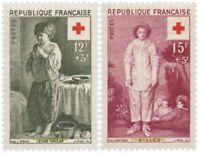 EBS France 1956 Red Cross - Paintings by le Nain and Watteau YT 1089-1090 MNH**