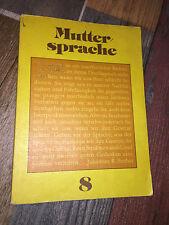 Muttersprache Klasse 8 Lehrbuch DDR Autorenkollektiv