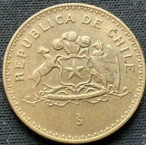 1992 Chile  100 Pesos Coin AU  aluminum bronze   #K891