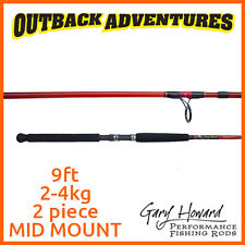 GARY HOWARD ESTUARY 9'FT FISHING ROD 2-4KG 2 PIECE MID MOUNT