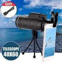 40x60 HD Handy Nachtsicht Monokular Teleskop Fernrohr Objektiv & Stativ & Clip
