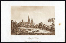 2 Antique Print-CEMETERY-ST.DENIS-ABBEY-FRANCE--Ireland-1790
