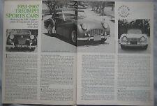 1976 Original 1953-67 Triumph Sports cars Road & Track magazine Article