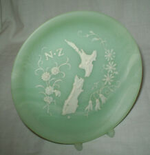 NEW ZEALAND MARLESTONE HANDCRAFTED CULTURED MARBLE DISPLAY PLATE & STAND