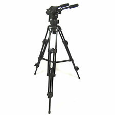 Professional Video Tripod EL9901 Heavy Duty with Fluid Pro Video Head and Bag