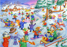The House Of Puzzles Kidzjigz - 80 PIECE JIGSAW PUZZLE - Fun In Snow Children
