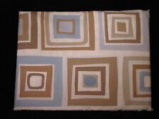 TWIN Blue Brown Square Contemporary Cotton Comforter Duvet Cover Company Store
