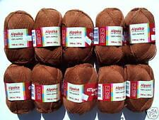 (88,00€/1kg) 500g 100% ALPAKA weiche reine Alpakawolle Wolle ALPACA Nussbraun