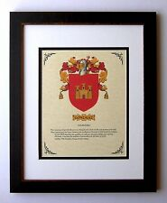 HERALDRY COAT OF ARMS ~ GONZALEZ FAMILY CREST ~ FRAMED