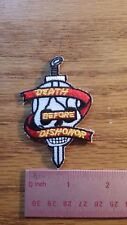 """BIKER MILITARY PATCH """"DEATH BEFORE DISHONOR"""" SKULL NEW NICE"""