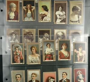 Actors and Actresses B C & D Cigarette Cards by Stephen Mitchell 1900 Pick Card