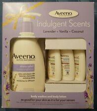 Aveeno Indulgent Scent Gift Pack, Moisturizing Body Lotion And Body Wash Set