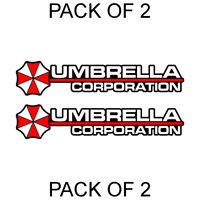 2X Umbrella Corporation Hive Resident Evil Vinyl Sticker Car Truck Window Decal