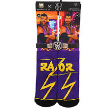 Odd Sox Men's WWE Razor Ramon Socks Purple Red active wrestling footwear