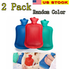 2 Pack Hot Water Bottle Rubber Bag Warm Relaxing Heat Cold Therapy-Random Color