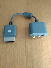 Genuine OEM Microsoft Xbox 360 RCA Audio Adapter w/ 3.5mm Headphone Jack adapter