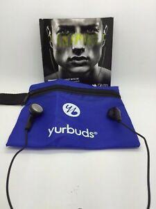 YURBUDS INSPIRE SPORT EARPHONES COLOR BLACK & POUCH